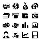 Money icon set Royalty Free Stock Images