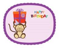 Monkey Sticker Royalty Free Stock Photography