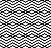 Monochrome visual abstract textured geometric seamless pattern. Royalty Free Stock Photo