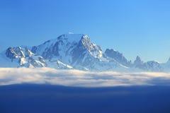 Mont Blanc, Winter landscape in the ski resort of La Plagne, France Royalty Free Stock Photos
