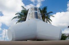 Monumento del frangiflutti alle Maldive Immagini Stock