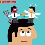 Moral choice, business ethics and temptation Stock Images