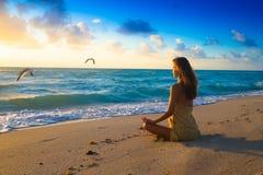 Morgen-Meditation Stockfoto