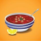 Moroccan Harira soup. Traditional Ramadan meal. Stock Images