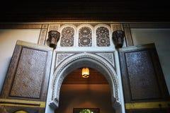 Morocco, Marrakech. Inside the El Bahia Palace Stock Photos