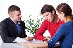 Mortgage advisory service Stock Image
