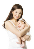 Mother Baby Girl Portrait, Woman holding Newborn Little Kid Royalty Free Stock Image