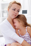 Mother comforting her child Royalty Free Stock Image