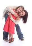 Mother daughter love happy fun and laughter Royalty Free Stock Photos