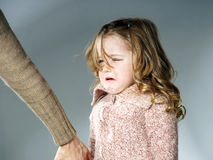 Mother reassuring little daughter Stock Photos