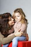 Mother reassuring little daughter Royalty Free Stock Photos