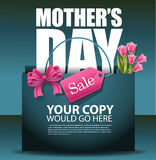 Mothers Day sale shopping bag design EPS 10 vector Royalty Free Stock Images