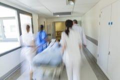 Motion Blur Stretcher Gurney Child Patient Hospital Emergency Stock Photo