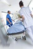 Motion Blur Stretcher Gurney Patient Hospital Emergency Royalty Free Stock Photos