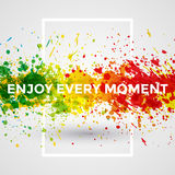 Motivation bright Paint Splashes vector Watercolor Poster Royalty Free Stock Image