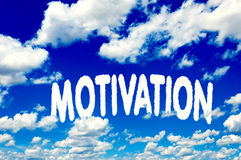 Motivation clouds Royalty Free Stock Image