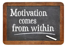 Motivation comes from within Stock Photos