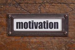 Motivation - file cabinet label Royalty Free Stock Images