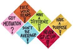 Motivation reminder notes Stock Photo