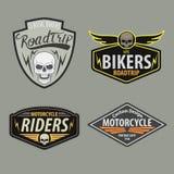 Motor racing emblem set,sticker,arms, illustration Stock Image