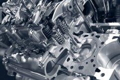 Motor van een auto. Stock Foto's