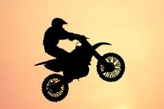 Motorbike jump Stock Photos