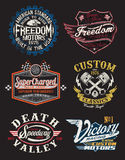 Motorcycle Themed Badges Royalty Free Stock Image