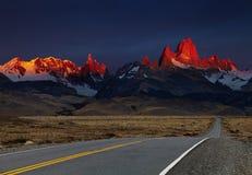 Mount Fitz Roy at sunrise, Patagonia, Argentina Stock Image