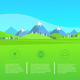 Mountain Green Grass Landscape Forest Park Blue Royalty Free Stock Photos