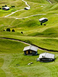 Mountain huts Royalty Free Stock Photography