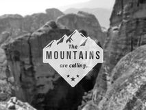Mountain label Stock Images