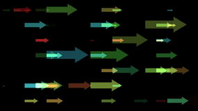 Movement of the multicolored arrows stock footage