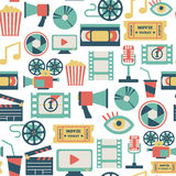 Movie pattern Stock Photography