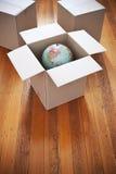 Moving Boxes Globe Royalty Free Stock Photo