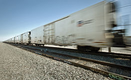 Moving Freight Train Royalty Free Stock Image