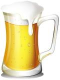 A mug full of cold beer Stock Photos