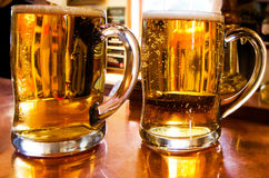 Mugs of beer Stock Photography