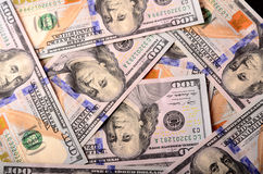 Muito valor nominal de contas de $ 100 Foto de Stock