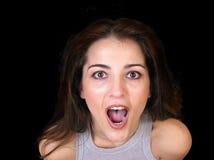 Mujer emocionada Fotografía de archivo