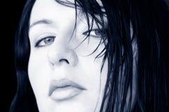 Mulher molhada do cabelo Foto de Stock Royalty Free