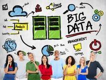 Multi Ethnic Group Big Data Imagination Concept Stock Photo