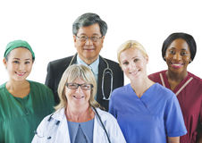 Multi-Ethnic Group of Doctors Royalty Free Stock Image