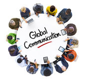 Multi-Ethnic Group of People and Global Communications Concept Royalty Free Stock Photography