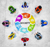 Multi-Ethnic Group of People and Society Concepts Royalty Free Stock Photography