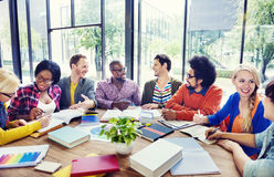 Multi-Ethnic Group of People Working Together Royalty Free Stock Images