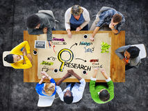Multi-Ethnic People in Meeting and Research Concept Royalty Free Stock Photo