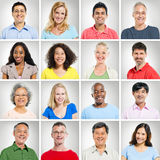 Multi-ethnic Portraits Stock Photos