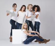 Multi ethnic women Stock Photography