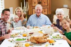 Multi Generation Family Celebrating Thanksgiving Royalty Free Stock Photo