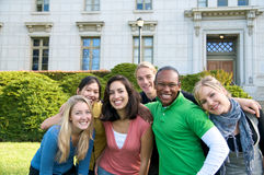 Multicultural Students on University Campus Royalty Free Stock Photography